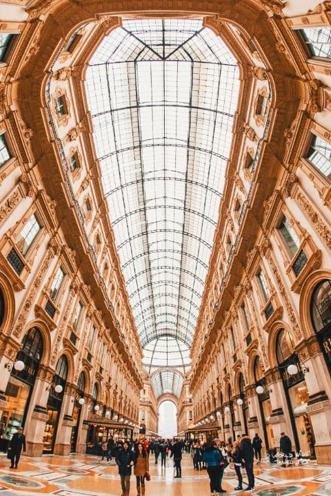 Milan Italy Galleria Vittorio Emanuele of Milano