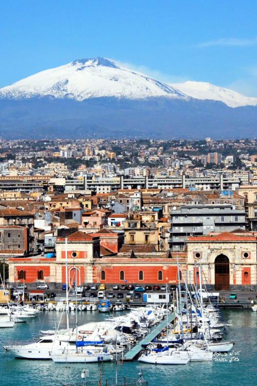 Sicily Italy Mount Etna Catania Sicily Italy