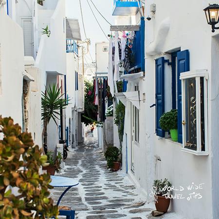 Mykonos Greece Town