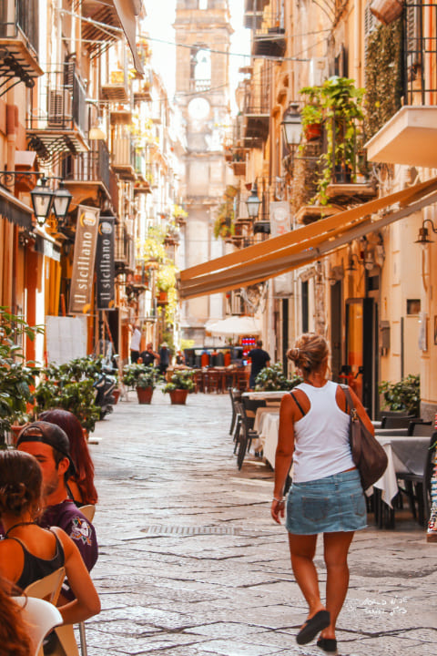 Palermo street Italy Sicily placest to visit