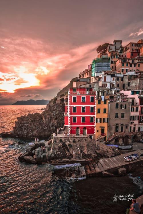 Riomaggiore Italy sunset