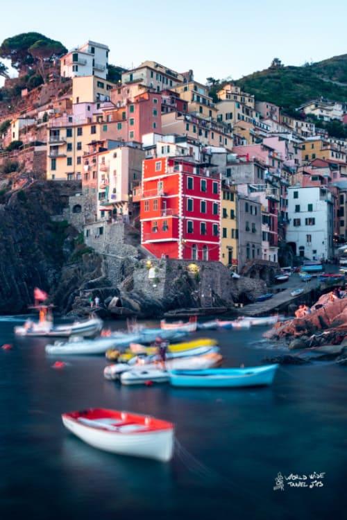 Riomaggiore Italy city on the coast