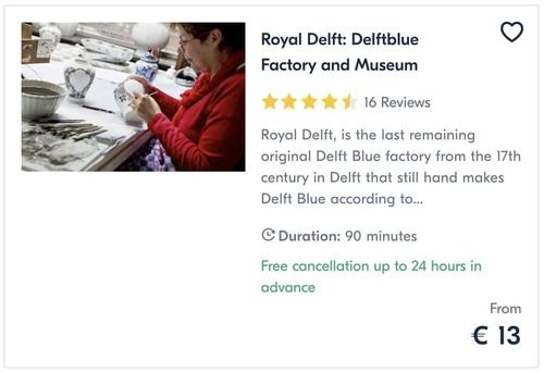 The Royal Delft Delftblue Factory and Museum