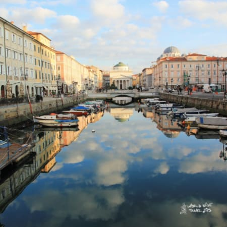 Trieste Italy beautiful canal Cities North East Italy