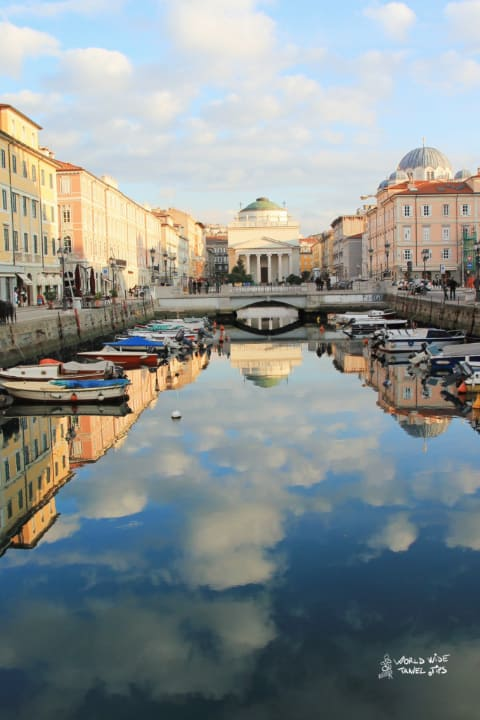 Trieste Italy beautiful canal