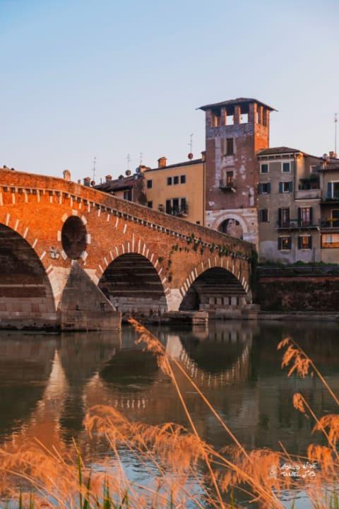 Verona Italy sunset in Verona