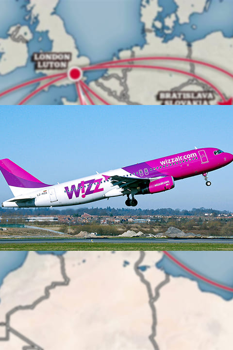 wizz air resume flights from luton airplane