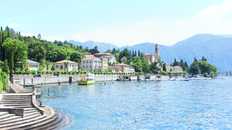 Lake Como Italy town on water