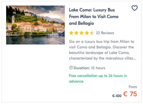 Luxury Bus From Milan to Visit Como and Bellagio