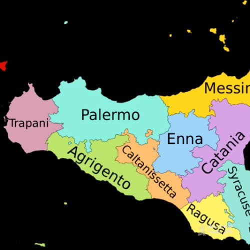 Where is Sicily on a map