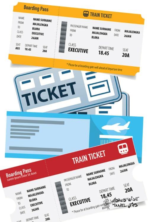 Train Ticket to Lake Como Italy