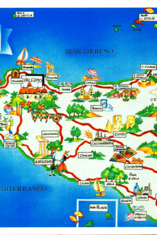 map of Sicily Italy