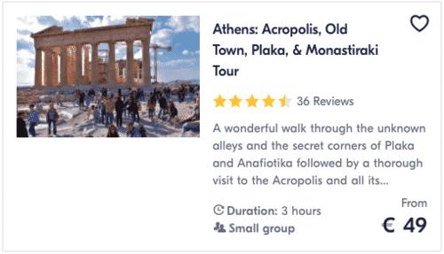 Athens Acropolis, Old Town, Plaka, Monastiraki Tour