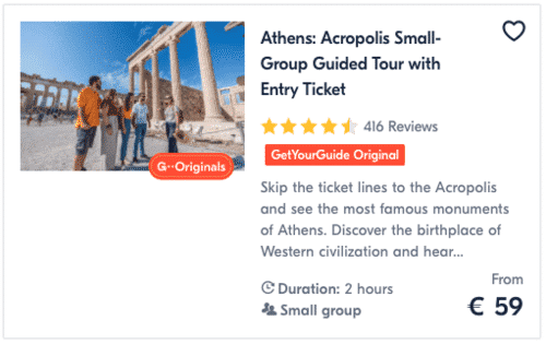 Athens Acropolis Small-Group Guided Tour with Entry Ticket