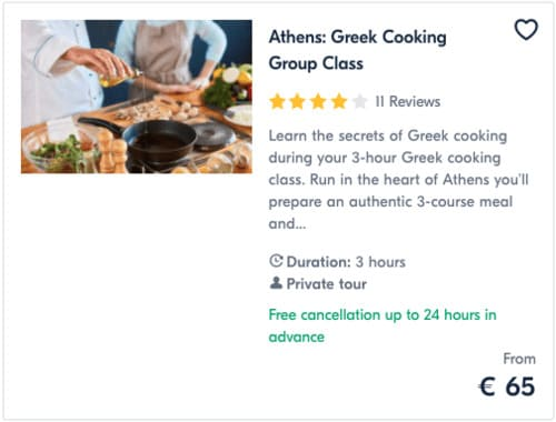 Athens Greek Cooking Group Class
