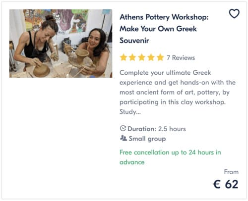 Athens Pottery Workshop Make Your Own Greek Souvenir
