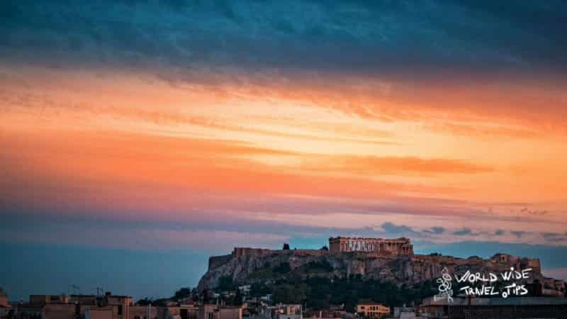 Sunset in Athens from Lycabettus things to do in Athens by night