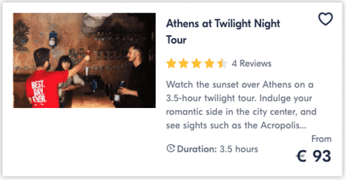 Athens at Twilight Night Tour