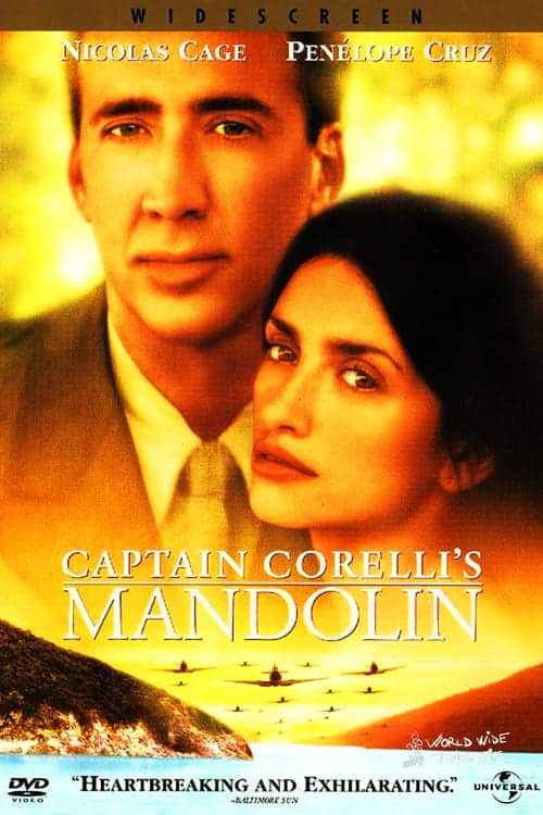 Captain Corellis Mandolin Movie Nicolas Cage Penelope Cruz Kefalonia