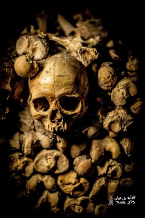 Catacombs Paris Skulls
