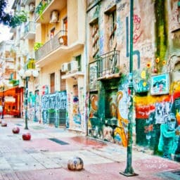 Exarchia street art Athens Greece