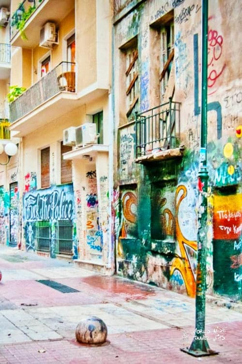 Exarchia street art Athens Greece