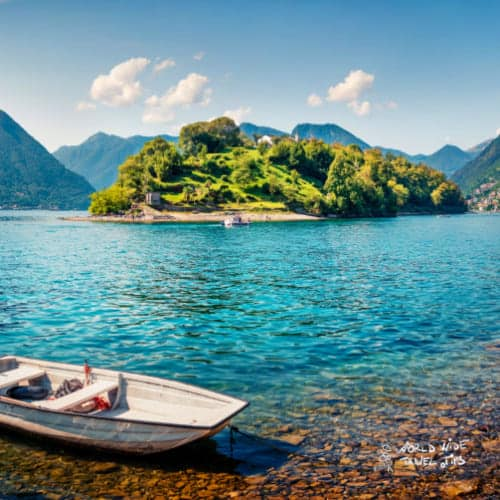 lake como Italy Isola Comacina