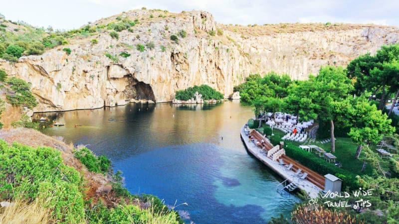 Lake Vouliagmeni Athens Greece