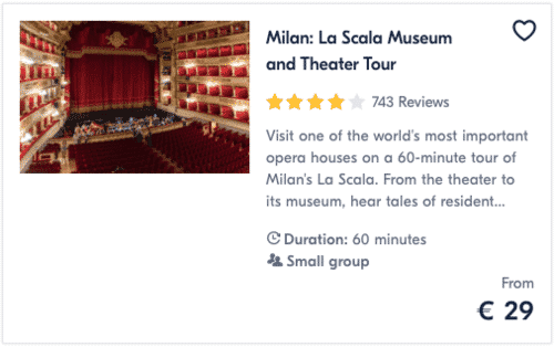 Milan La Scala Museum and Theater Tour