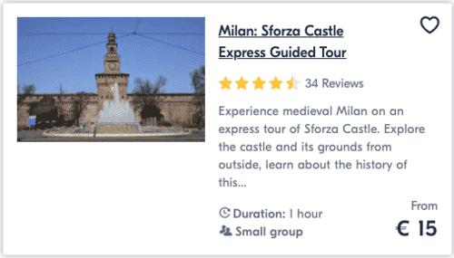 Milan Sforza Castle Express Guided Tour