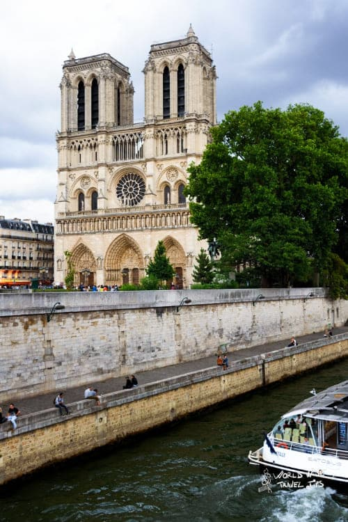 Notre Dame Seine River Paris