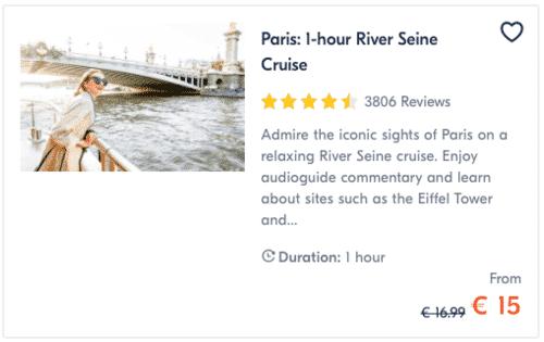 Paris 1-hour River Seine Cruise