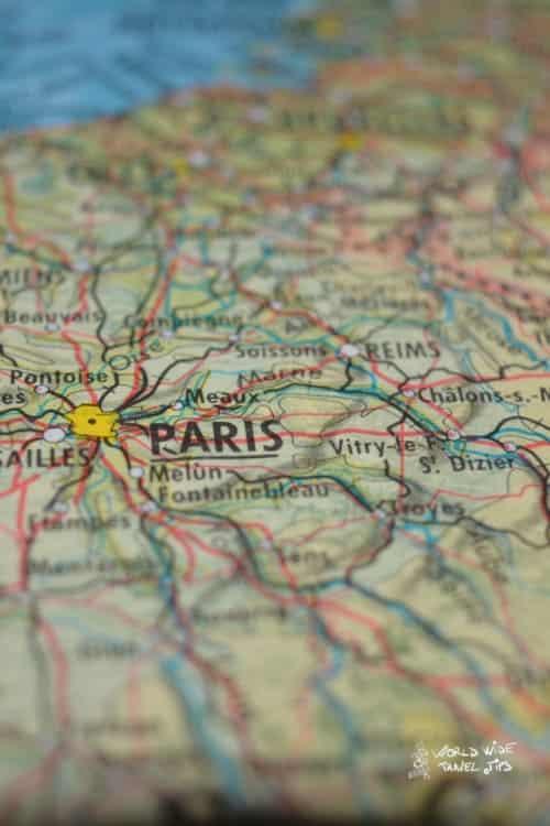 Paris city France map