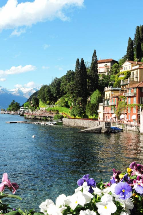 Perfect day at Lake Como in Italy