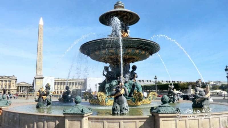 Place de la Concorde Fontaine des Mers River Gods Paris
