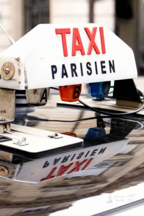 Taxi Paris France