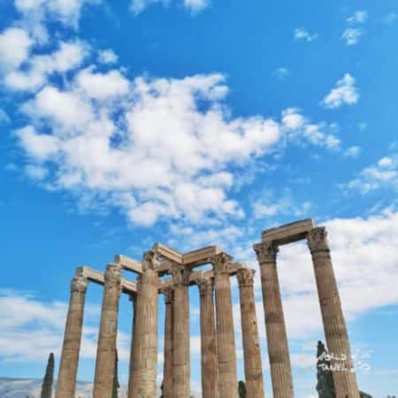 Visiting Athens Temple of Olympian Zeus
