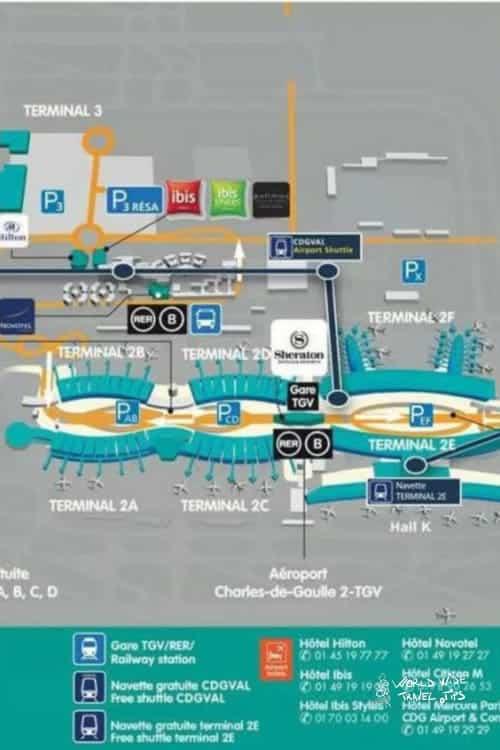 charle de gaulle airport CDG Paris France