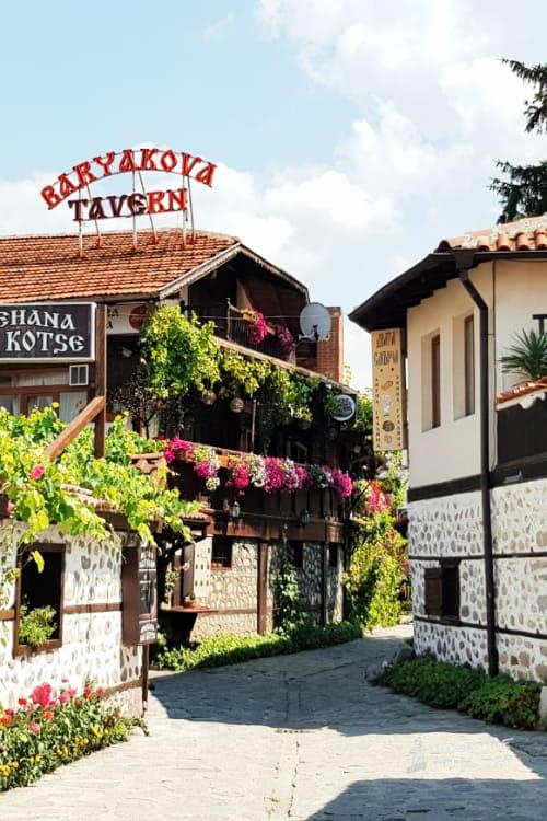 Eat in a bulgarian mehana