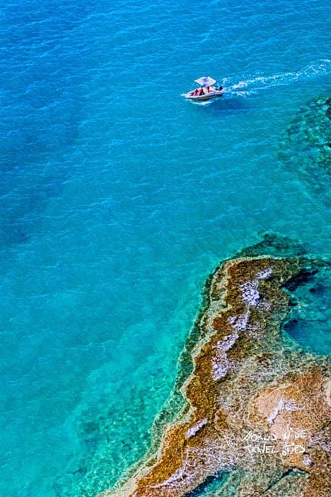 Greece Rocky Shore Water Corfu Korfu