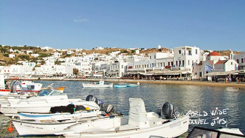 Mykonos Greece boats