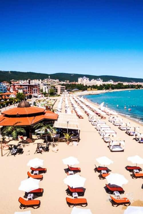 blue flag beaches in Bulgaria sunny beach