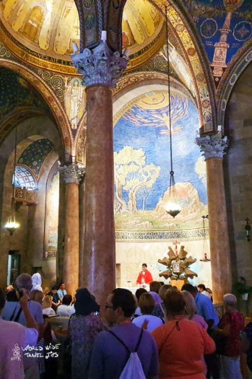 Church of all nations Jerusalem Gethsemane Mount of Olives to Jerusalem
