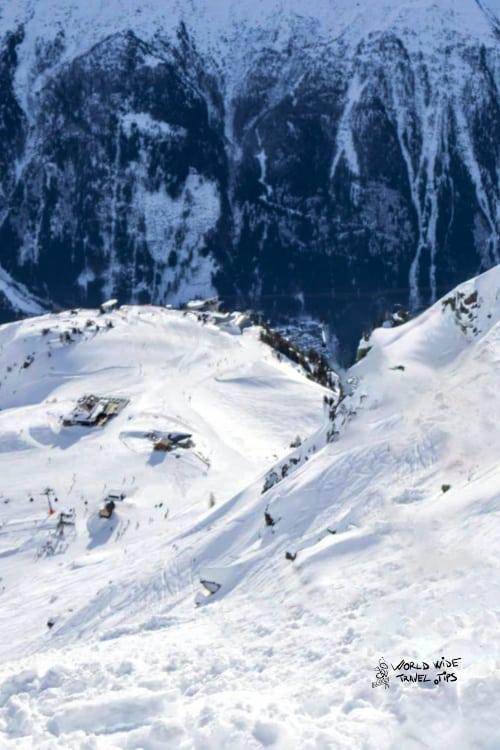 Ski conditions in Chamonix France