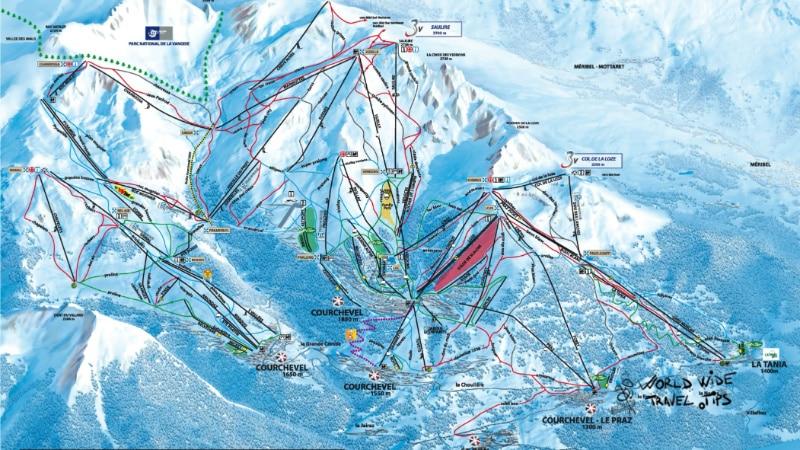 Courchevel Ski Map Slopes Pistes