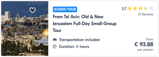 From Tel Aviv Old and New Jerusalem Full-day Small Group Tour Guide