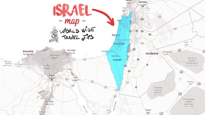What continent is Israel located