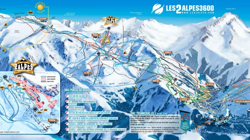 Les Deux Alpes Ski Map Slopes Piste Map