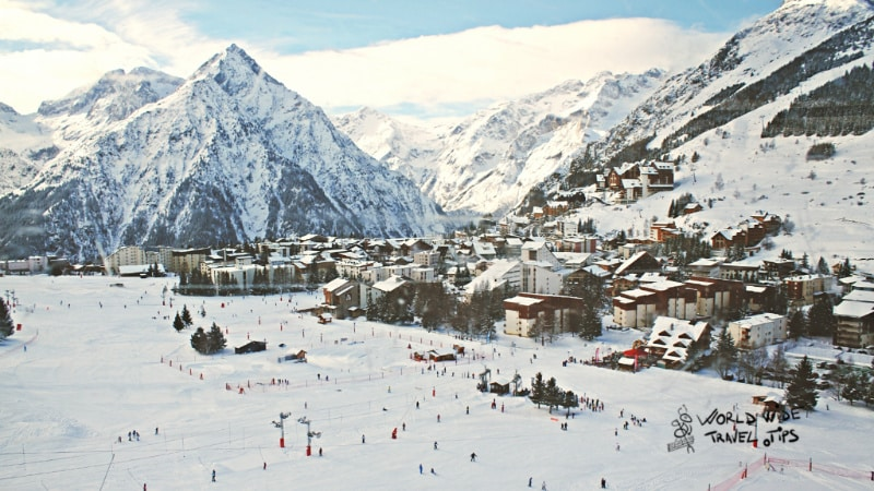 Les Deux Alpes Ski resorts in France