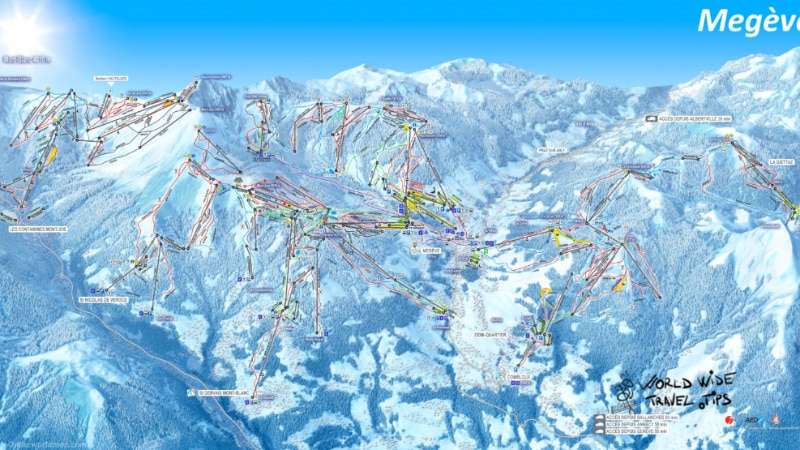Megeve Ski Map Slopes Piste Map